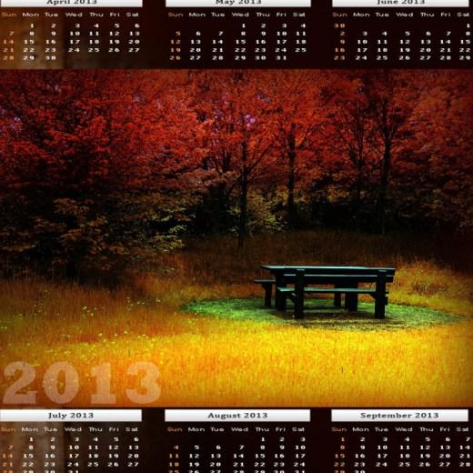 Beautiful 2013-calendar HD widescreen wallpaper