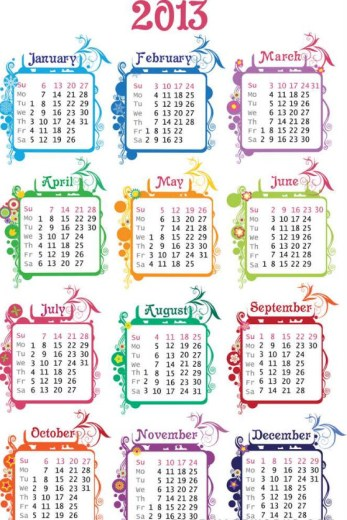 best design 2013 calendar background