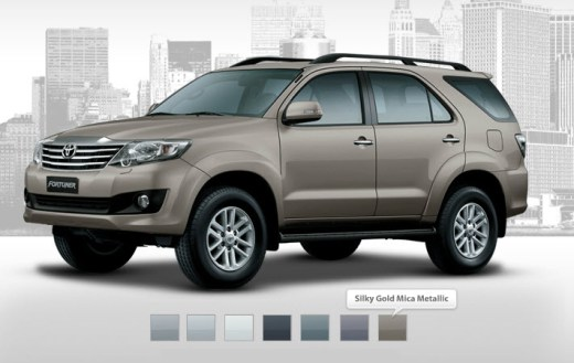 new-fortuner 2013 gold mica color picture