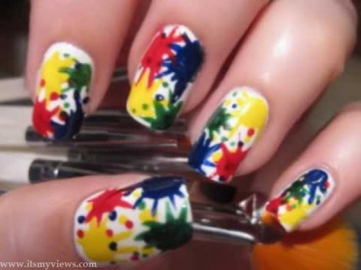 beautiful-nail-art-style-for-party-for-teenage-girls-2013-2014