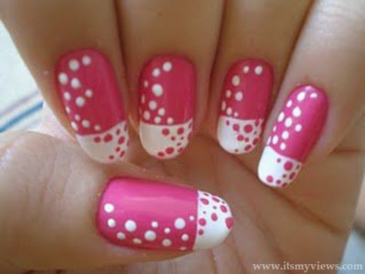 latest-pink-color-beautiful-nail-art-design-2013-2014