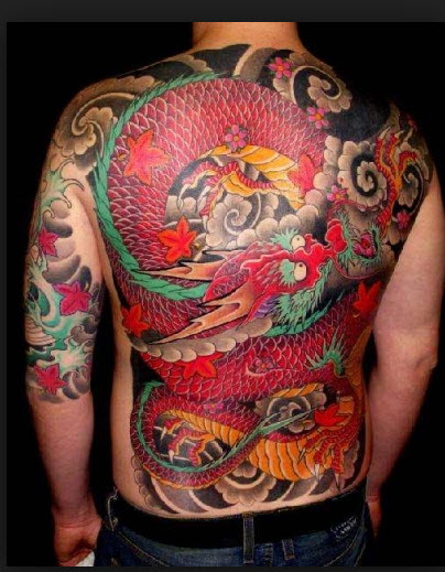 colorful-full-back-latest-tattoo-style for a boy 2013 2014
