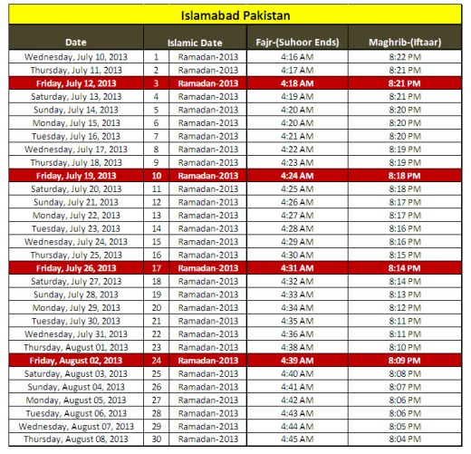 2013-Ramadan-calendar-Islamabad-City-Pakistan-sehri iftar-timing
