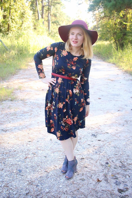 Fall 2016 Dark Floral Dress