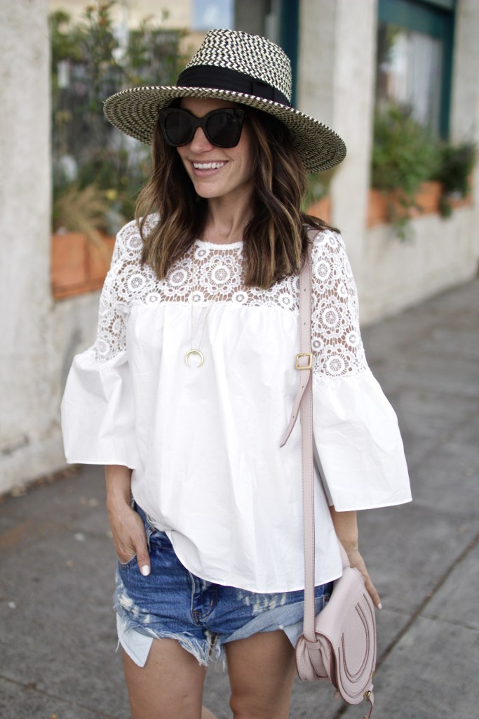 white lace top, itsy bitsy indulgences