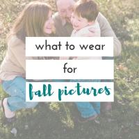 choosing what to wear for fall pictures
