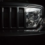 Front view of headlamp and grill