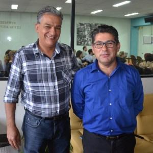 Osni Mendes e Dr. Darci Braga Foto: Blog Ivan de Colombo