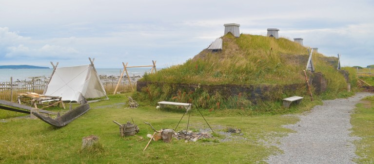 Say hello North America's only Viking settlement... L'Anse aux Meadows!