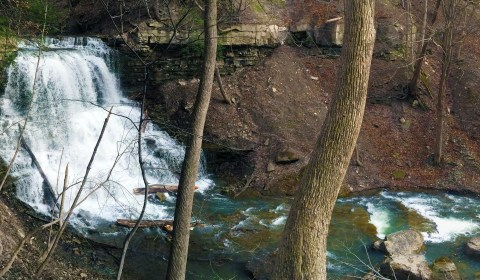 The Lower Falls from above.