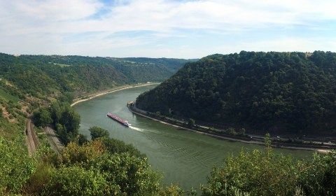 Here's a view from the famous Loreley.