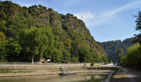 And now a shot of it, which isn't the pretty lady you'd be thinking of. The Loreley was actually a narrow part of the Rhein that caused many shipwrecks, which then morphed into the story of the Loreley as the tempting pretty lady.