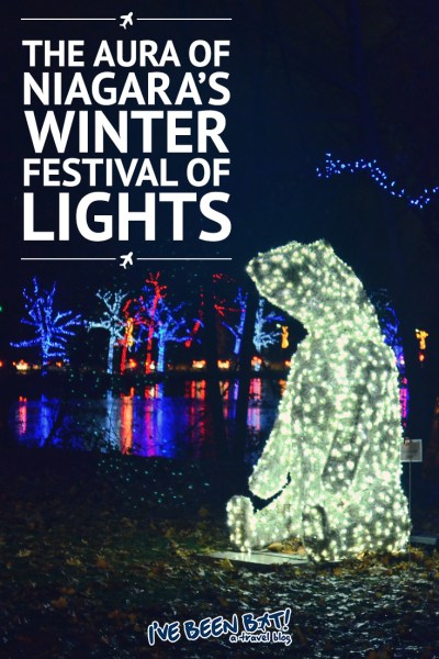 I've Been Bit! A Travel Blog :: The Aura of Niagara's Winter Festival of Lights | Niagara Falls, Niagara Parks, Christmas, Christmas Lights, Snow |