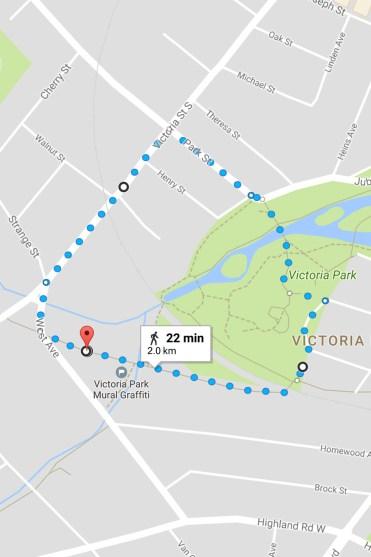 30 Walks 30 Days - Victoria Park Trail Map, Kitchener, Ontario :: I've Been Bit! A Travel Blog