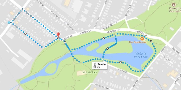 30 Walks 30 Days - Victoria Park Map, Kitchener, Ontario :: I've Been Bit! A Travel Blog