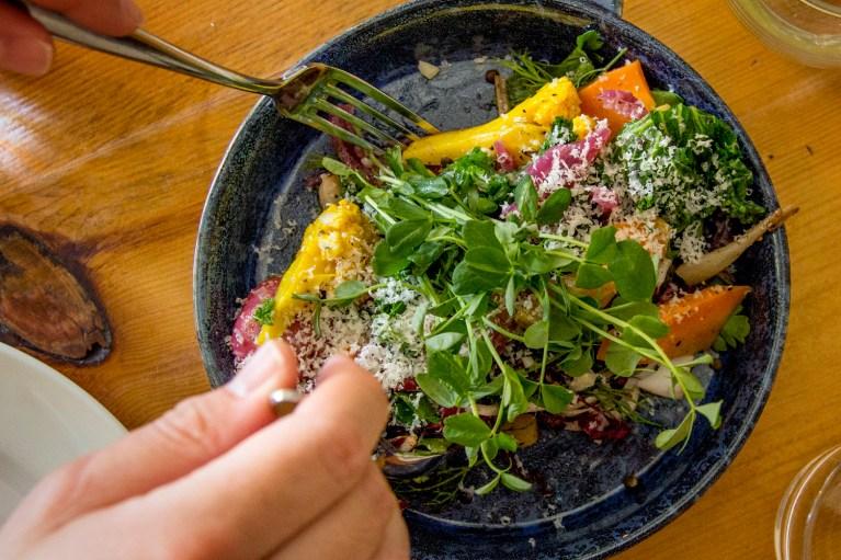 I've Been Bit! A Travel Blog - Grey County Autumn Adventures Bruce Wine Bar Farmhouse Salad