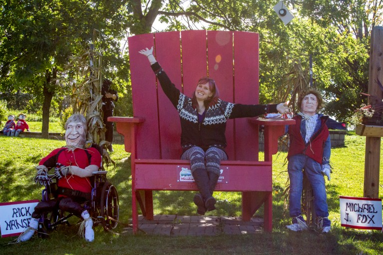 I've Been Bit! A Travel Blog :: Grey County Autumn Adventures - Meaford Scarecrow Invasion Meaford Chair