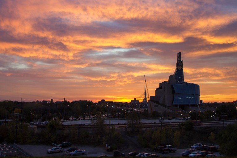 Winnipeg Sunrise with the Canadian Museum for Human RIghts - 20+ Photos Guaranteed to Inspire a Manitoba Road Trip :: I've Been Bit! A Travel Blog