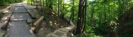 The left stairs are a part of The Lookout & the right are The Bruce Trail!