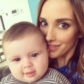Bec Judd with her daughter and her gorgeous chubby cheeks