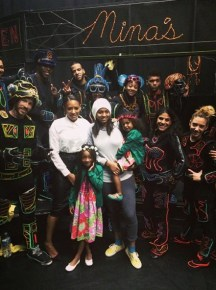 Mel B with her girls at the Iluminated Dance Show