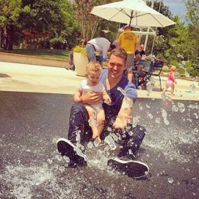 Michael Buble with his son Noah
