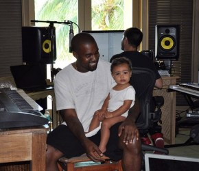 Kanye West with baby North