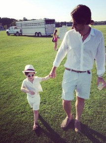 Rachel Zoe's husband with their son Skyler
