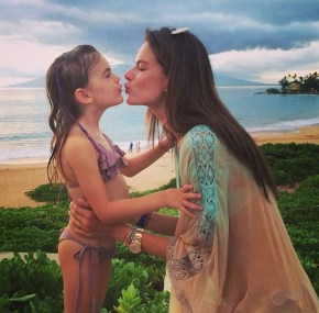 Alessandra Ambrosio and her daughter Anja