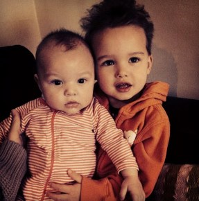 Guy Sebastian's children Archer and Hudson