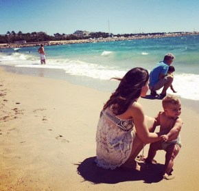 Tammin Sursok and her daughter Phoenix
