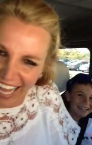 Britney Spears with her son
