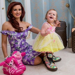 Holly Madison her with her daughter Rainbow