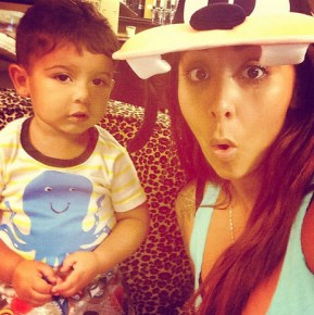 Snooki with her son Lorenzo