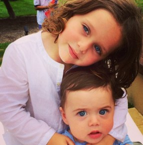 Rachel Zoe's children Sklyer and Kaius