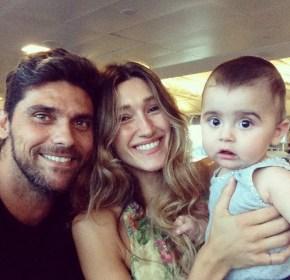 Mark Philippoussis, Silvana Lovin and their son Nicholas
