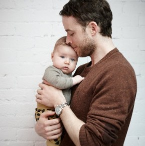 Hamish Blake with his son Sonny