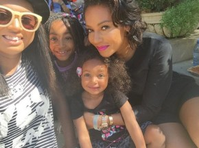 Mel B and her daughters Phoenix, Angel and Madison
