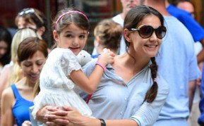 Suri writes her Christmas list. Katie Holmes freaks out.