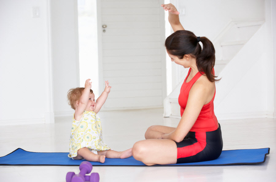 6 super fast and easy workouts for mums.