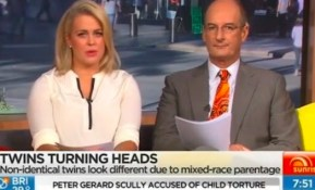 Samantha Armytage has been labelled a racist following a controversial on-air gaffe.