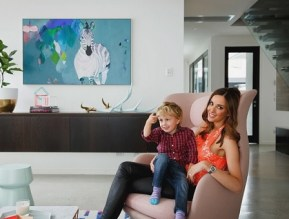 Bec Judd with her son Oscar