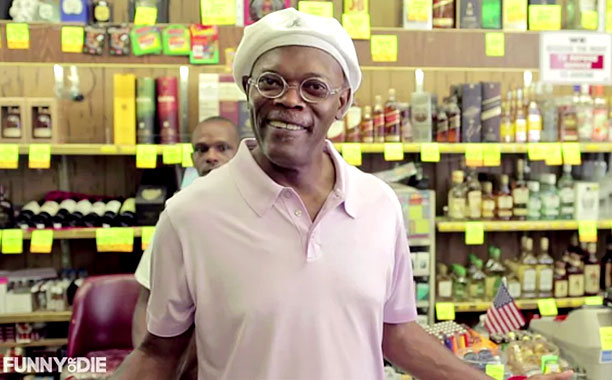 Funny or Die clip -- Pictured: Samuel L Jackson(Screengrab)