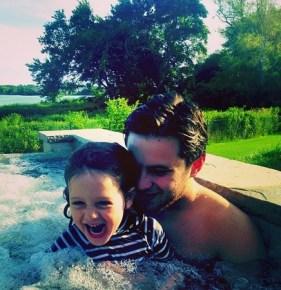 Rachel Zoe's nephew Luke with her son Skyler