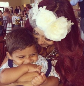 "Snooki with her ""prince"" son Lorenzo"