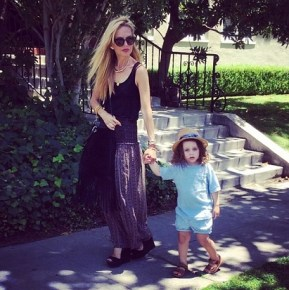 Rachel Zoe on a Sunday stroll with her son Skyler