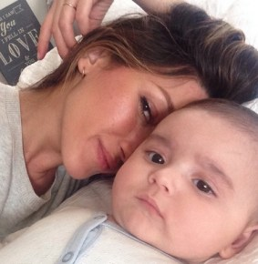 Wife of Mark Philippoussis, Silvana Lovin with their son Nicholas