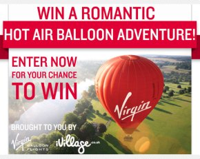 Win a romantic Hot Air Balloon adventure for two