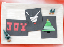 12 Days of HoliDIY: Woven holiday family card