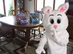Here's how to fake the Easter Bunny's chocolatey visit.
